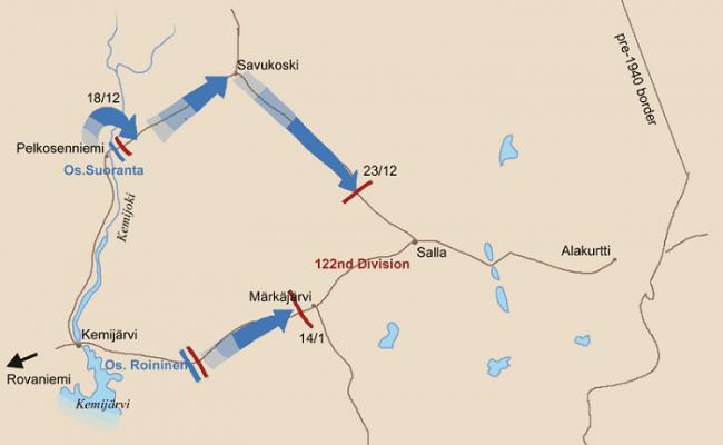 Contra ataque de los finlandeses y retirada de los sovieticos