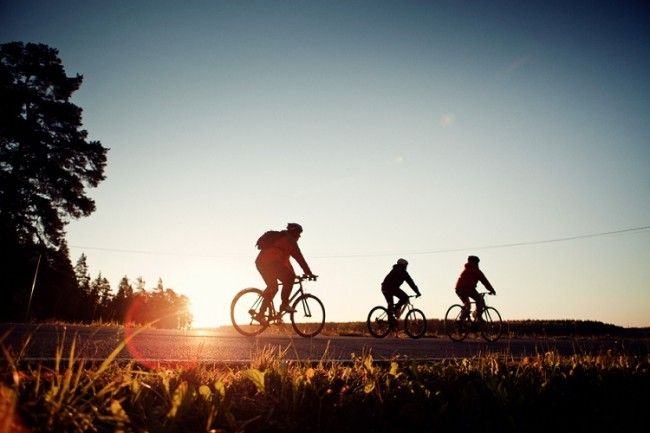 Atardecer a ritmo de pedal