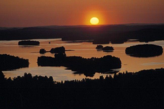 Detalle del lago Saimaa