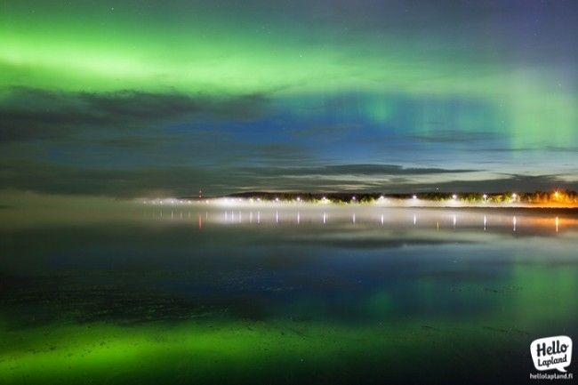Aurora Boreal en Rovaniemi usando un objetivo de 35mm