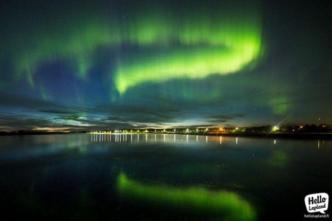 Aurora Boreal con un objetivo gran angular