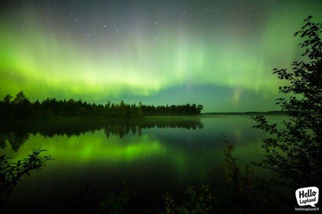 Aurora Boreal en otoño. Esta foto tuvo una exposición de 25 segundos