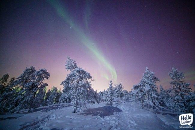 Aurora Boreal con Luna llena. Exposición 2,5 segundos