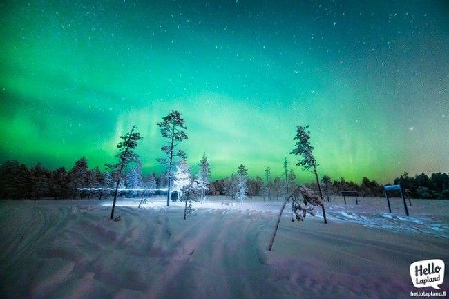 Este es Alexander Kuznetsov cazando la Aurora Boreal a -30ºC