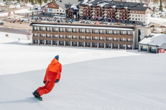 Snowboard en Ylläs