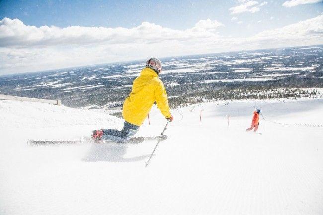 Esquiar en estilo Telemark también es muy popular en Finlandia