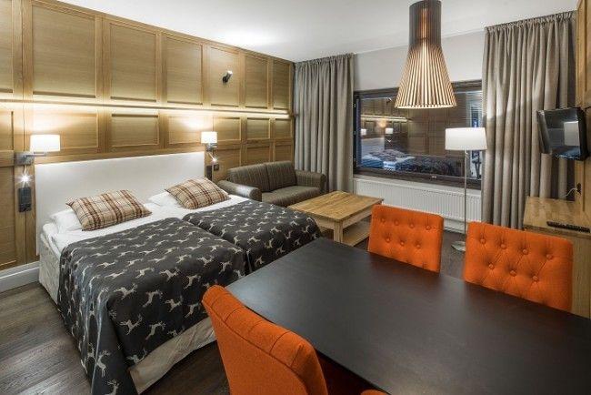 Hotel Olos. Habitación doble con sauna y cocinilla
