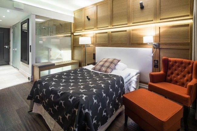Hotel Olos. Habitación simple con cama de 120cm