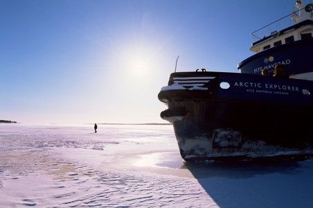 Crucero rompehielos en el Báltico
