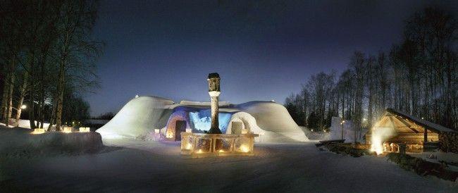 Restaurante de hielo Snowland en Rovaniemi