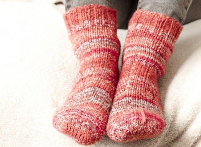 Calcetines de lana muy típicos en Finlandia