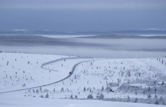 Carretera de Saariselkä a Ivalo