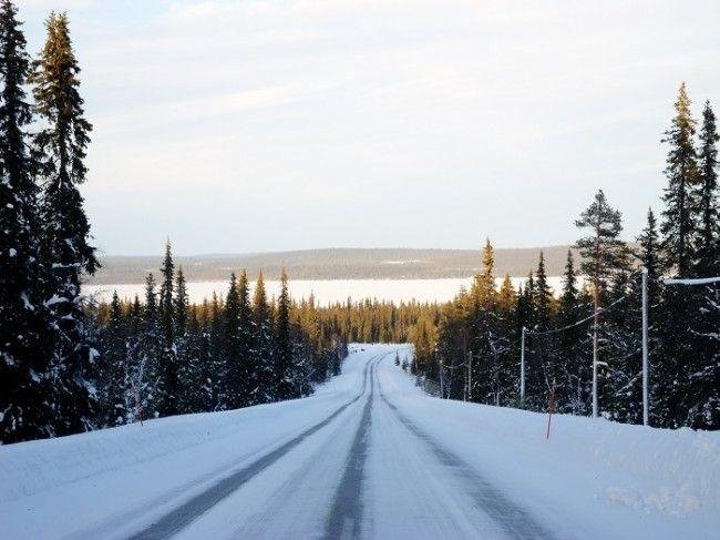 Carretera hacia Kilpisjärvi