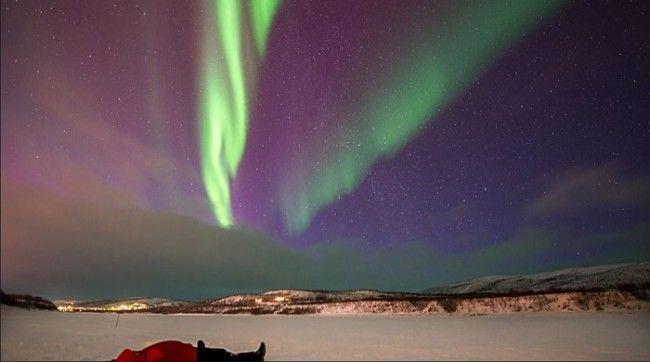 Aurora Boreal en el Pulmankijärvi (lago)