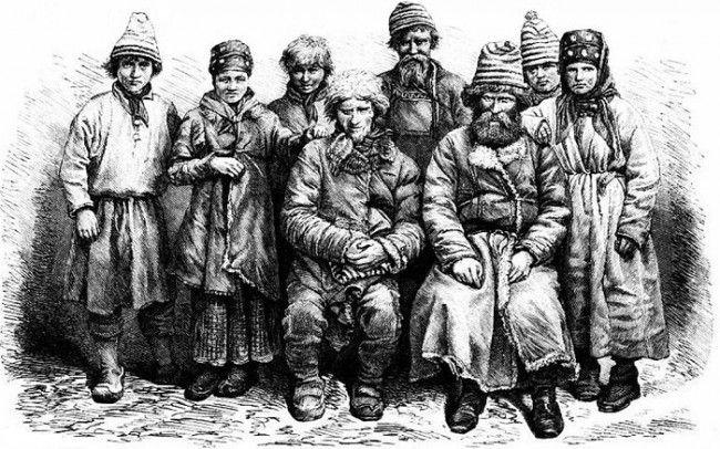 Sami Skolt. Dibujo en el año 1871