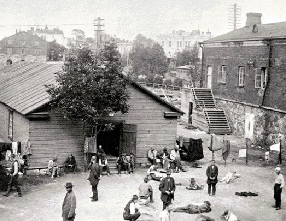 Campo de prisioneros de la Guerra Civil en Helsinki