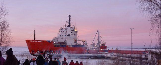 Día de la inauguración del rompehielos Polar-Explorer