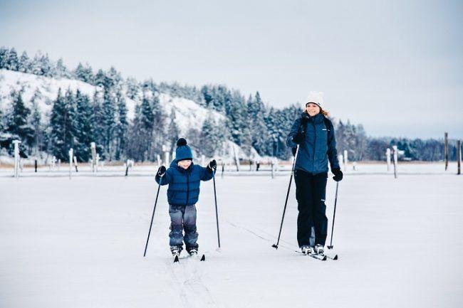 Disfrutando del esquí de fondo