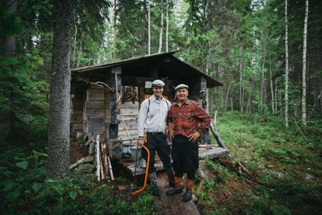 Finlandeses en el bosque