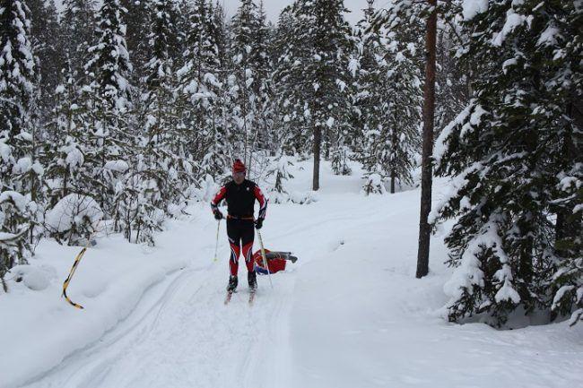 Giovanni Bonazzi vencedor de la Rovaniemi150 en la categoría de esquí en el año 2016