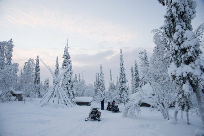 Paisaje de invierno en Saariselkä