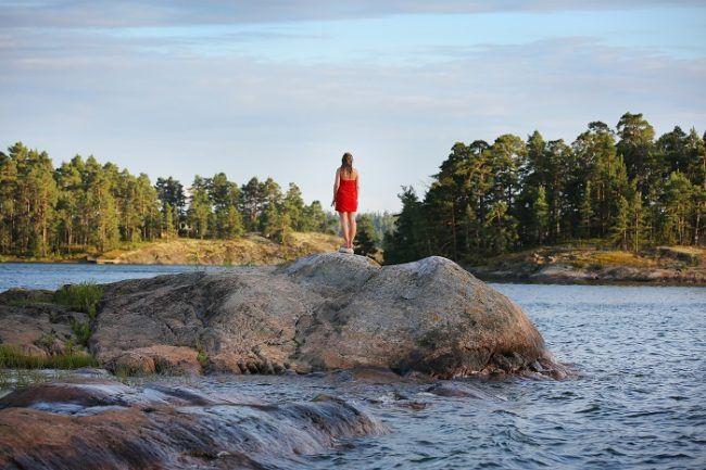 Paisaje de verano en Laponia
