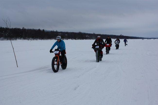 Participantes en la categoría de Fat-Bike