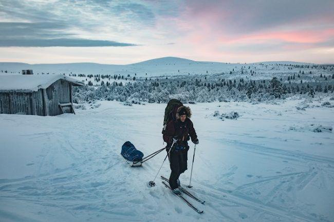 Esquí de travesía en el parque nacional Urho Kekkonen