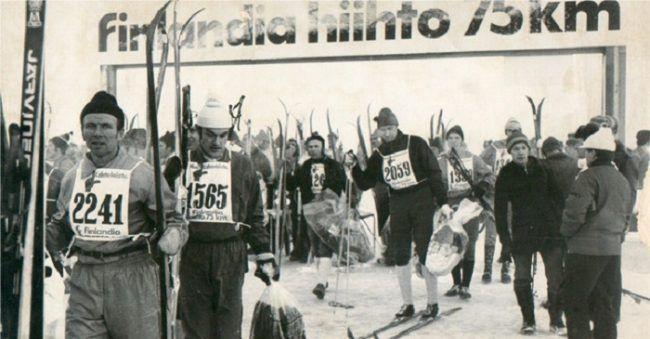 Finlandia-hiihto en su 2a-edición en 1974