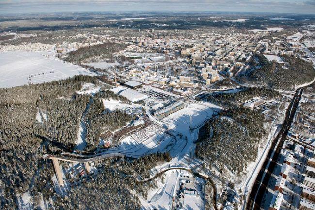 La ciudad de Lahti desde el aire