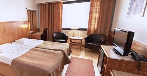 Habitación doble (sin renovar) hotel Ivalo