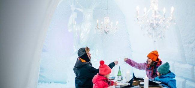 Restaruante iglú Snowman World de Rovaniemi