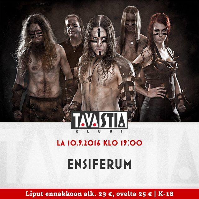 Cartel publicidad concierto de Ensiferum en la sala Tavastia