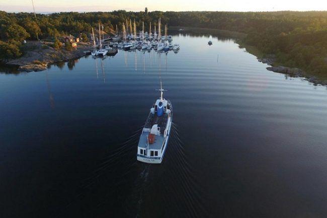 El pequeño puerto de la isla de Örö