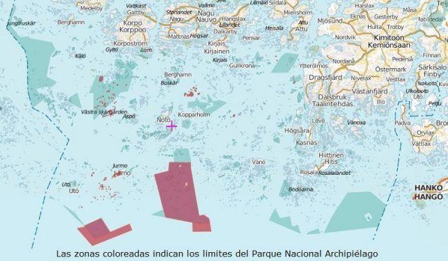 Mapa Parque Nacional Archipiélago
