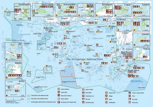 Mapa informativo Parque Nacional Archipiélago