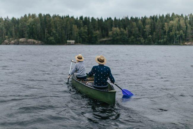 Navegar en canoa también es un ejercicio de tranquilidad