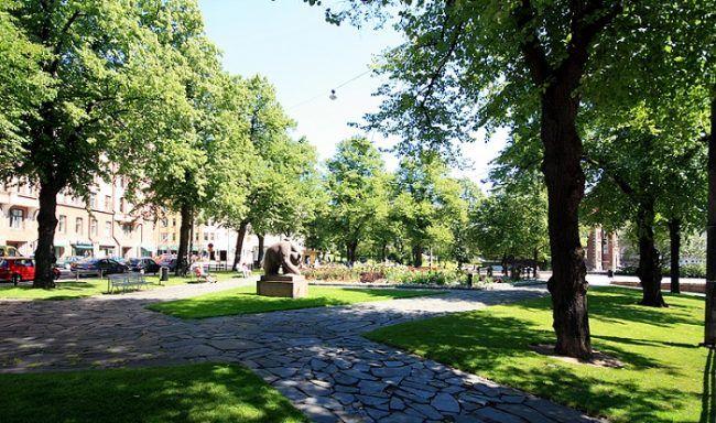 Parque del Oso (Karhupuisto) en el barrio de Kallio