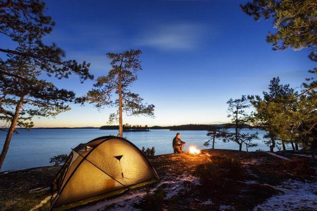 Camping libre en Finlandia