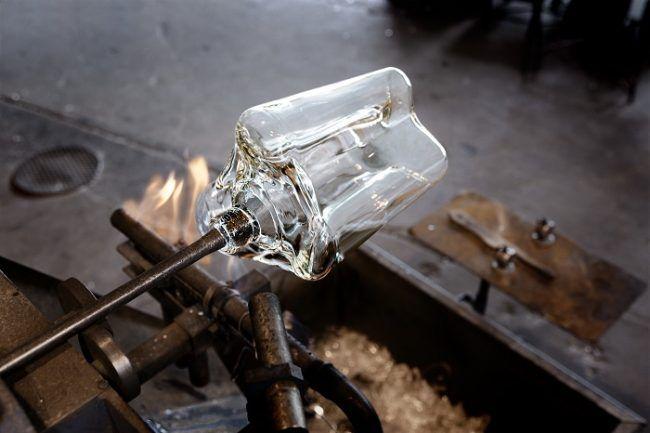 Producción de vidrio de la firma Iittala