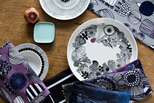 Textiles Marimekko y cerámica Arabia