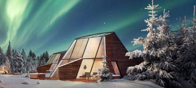 Diseño innovador para las nuevas cabañas del pueblo de Papá Noel