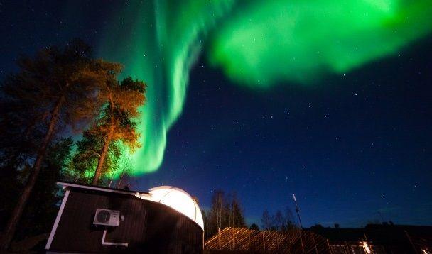 La curiosa cabaña Aurora Bubble