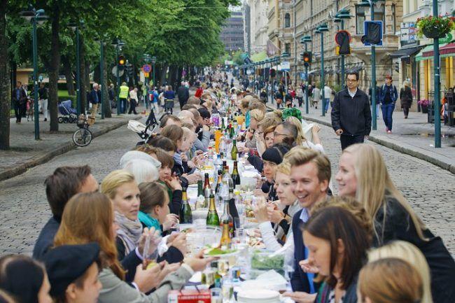 Fiesta popular en Helsinki
