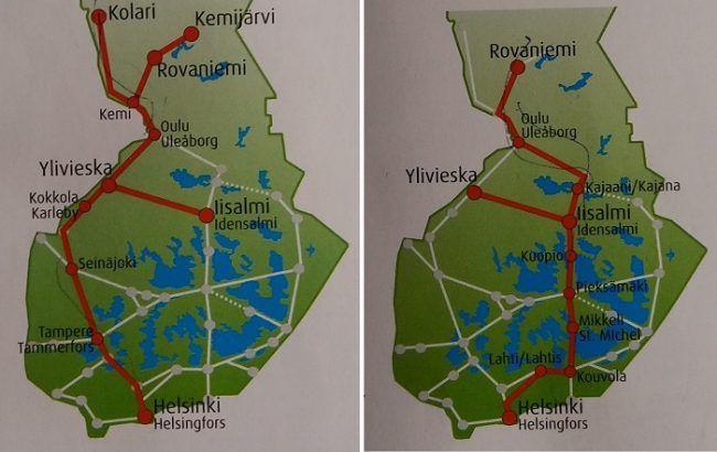Las dos rutas de tren hacia Laponia