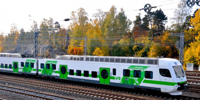 Uno de los trenes de Finlandia