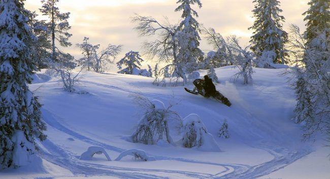 Demostrando las habilidades en nieve profunda