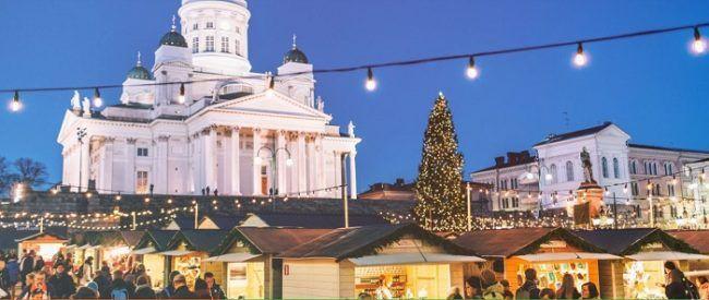 El mercado de Navidad de Helskinki