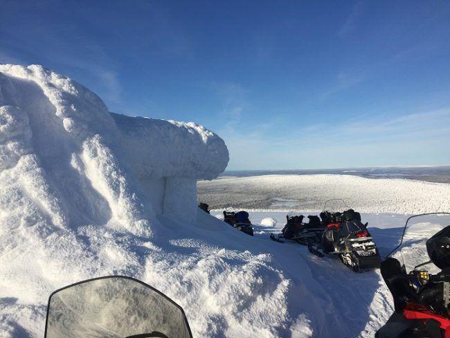 En una de las numerosas colinas de Laponia