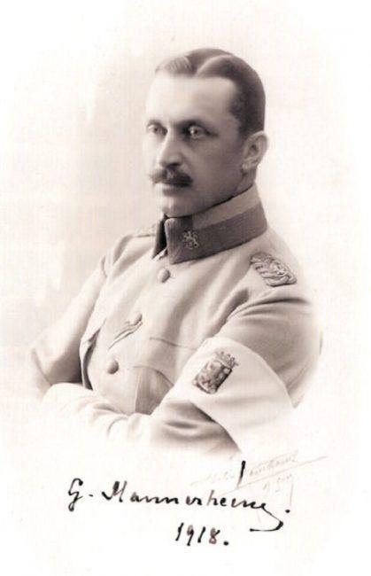 Carl Gustav Emil Mannerheim en el año 1918